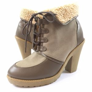 H&M 9M Taupe Gray Oxfords Booties Ankle Boots